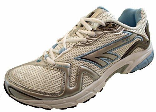 Hi-Tec Damen/Mädchen Schnürstiefel R157 Running Schuhe, Weiß/Blau, Gunmetal (kostenlose Lieferung) Weiß/Blau