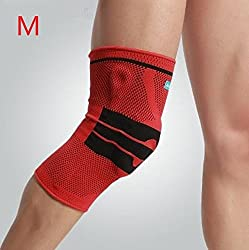 Red, XL : Top Quality Multi Color Kneepad Knee Protection Pads Long Knee Pads Silicone Foam Pad Protector Guard Football Soccer Tennis Aid