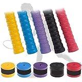 Stunner Anti-Slip Badminton Grip Tennis/Squash Racquet Grip.(Assorted) konex (Pack of 5)