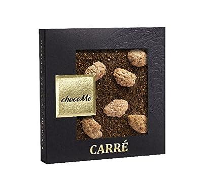 chocoMe Carré Gourmet Coffee Creations Chocolate with Ethiopian Yirga Coffee Beans/ Cinnamon & Sugar Coated Almonds & Bourbon Vanilla 50 g