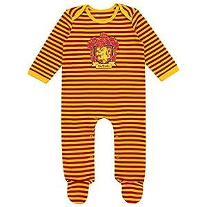 HARRY POTTER - Pijama Entera con Babero para Niños Bebés - Gryffindor 7
