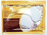 Palestren - 10 pares de máscaras de colágeno para ojos, antienvejecimiento, antiarrugas, parche de gel para ojeras, cristal blanco, máscara de polvo facial hidratante antiojeras