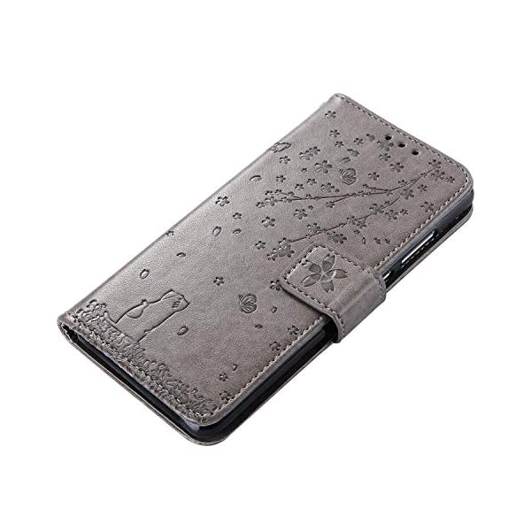 Uposao Compatible with Huawei Honor 20 Case Leather Wallet Cover Cherry Flower Cat Embossed Pattern Shockproof Flip Case with Card Holders Magnetic Closure Stand Lanyard,Gray Uposao Compatible Model: Huawei Honor 20 Package:1 x Wallet Case Cover,1 x Black Stylus Touch Pen Provides optimal protection from everyday bumps, knocks, drops, chips, dirt, scratches and marks without adding bulk to your phone and ensures that your device remains protected, safe and secured at all times. 5