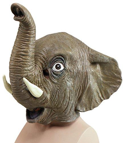 Bristol Novelty BM162 Elefant Maske, Mehrfarbig, Einheitsgröße (Idee Halloween Originali Costumi)