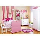 Babyzimmer Kleine Prinzessin Schrank Kommode, Bett und Lattenrost