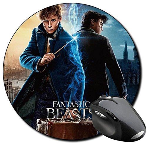 Harry Potter Daniel Radcliffe Eddie Redmayne Newt Scamander A Alfombrilla Redonda Round Mousepad PC