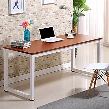 office study desk. Professional Simple Style Computer PC Laptop Home Office Study Wood Desktop Workstation Steel Frame Table ( Desk