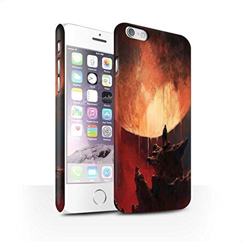 Offiziell Chris Cold Hülle / Matte Snap-On Case für Apple iPhone 6S / Pack 12pcs Muster / Fremden Welt Kosmos Kollektion Schmelzen Sonne