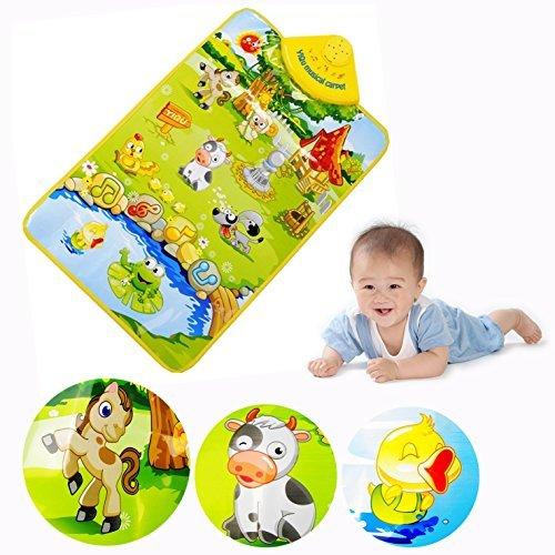 Cisixin Musik Sound Farm Tier Kinder Baby Spielen Spielen Mat Teppich Play Mat