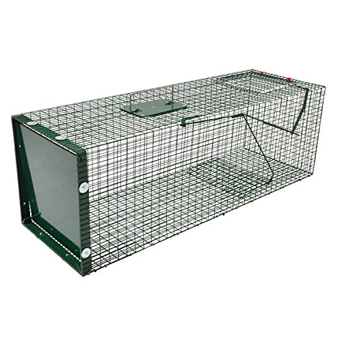 Moorland Safe 5002 Lebend-Falle 90x30x30cm als stabile Marder-Falle, Katzen-Falle, Fuchs-Falle, Hasen-Falle mit Falltür