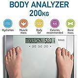 Tatkraft Fitness Digitalwaage Körperanalysegerät Digital Körperfett und Muskelmasse 200 KG