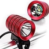 ECHTPower 2in1 CREE XM-L T6 LED 1200Lm Fahrradlampe Stirnlam...