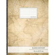 """Blanko Notizbuch • A4-Format, 100+ Seiten, Soft Cover, Register, """"Travel Journal"""" • Original #GoodMemos Blank Notebook • Perfekt als Zeichenbuch, Skizzenbuch, Blankobuch, Leeres Tagebuch"""