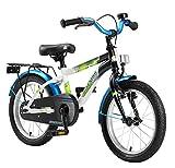 Bikestar Premium Sicherheits Kinderfahrrad 16 Zoll für Jungen und Mädchen ab 4-5 Jahre x2605; 16er Kinderrad Modern x2605; Fahrrad für Kinder Schwarz & Weiss