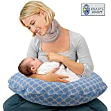Kradyl Kroft 5in1 Baby Feeding Pillow with Detachable Cover (Happy Blue)