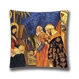 Weihnachten Bilder Religiöse Überwurf Kissen Case Retro Stil Weihnachten Überwurf Kissen Fall Einzigartige Kissen Fall Schlafsofa Home Decor Kissen Fall 45,7x 45,7cm kissenrollen
