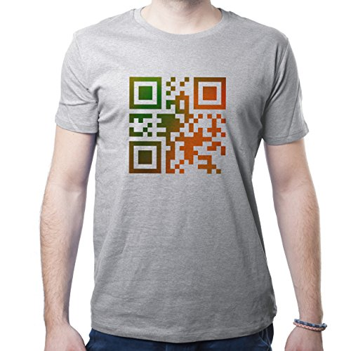 QR I Love You Herren T-Shirt Grau