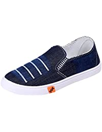 Slip On Fashion Sneakers Men Comfortable Chic Stylish Men Shoes Casual Sneakers – Denim Men Sneakers For College...