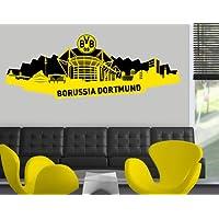 mantiburi WandTattoo Borussia Dortmund - Skyline Dortmund schwarz BVB 200x71cm