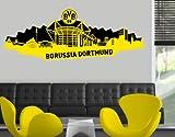 WTD mantiburi WandTattoo Borussia Dortmund - Skyline Dortmund schwarz BVB 200x71cm
