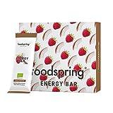 foodspring Barretta Energetica pacchetto da 12, Cocco-Lamponi, 12x35g, La tua caffeina da masticare, Qualità bio al 100%