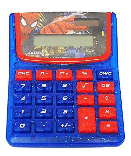 Taschenrechner-Spider-Man-SOLAR-OHNE-Batterien-funktionierend-Kindertaschenrechner-fr-Kinder-Spiderman-Jungen-Grundschule-Schule-Rechnen-Rechner-LC-Display