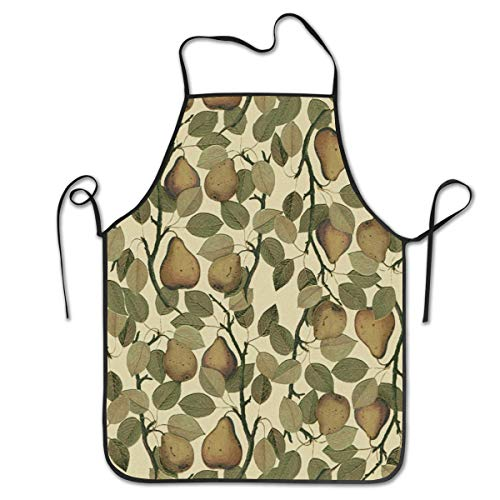 BetterShopDay Aprons Kitchen Chef Bib Vintage Pears Adjustable Ties for Kitchen Cooking Baking Gardening 20.4