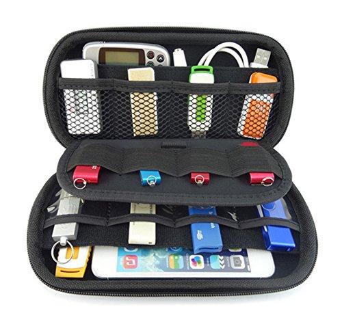 Leegoal (TM) Big Kapazität USB-Stick Bag Elektronische Accessoires Organizer Fall