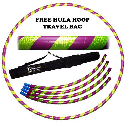 pro-hula-hoop-collapsible-4-pieces-pliable-fitness-adulte-voyage-hula-hoop-pondere-pour-aerobic-et-h