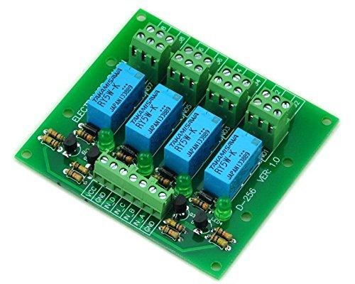 Electronics-Salon Vier DPDT Signal Board, 5 V Relais Modul Version. Signal-relais
