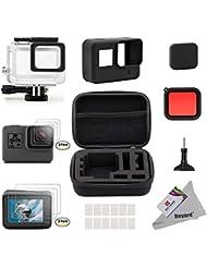 Deyard 25 en 1 GoPro Hero 5 Kit d'accessoires avec petit boîtier antichoc pour GoPro Hero 5 Action Camera