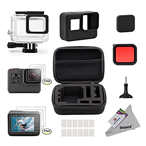 Deyard 25 in 1 Accessory Kit with Shockproof Small Case Bundle for GoPro Hero 5 Action Camera