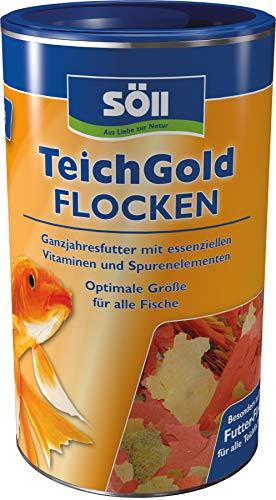Söll 14701 Teich-Gold Futter-Flocken - Alleinfuttermittel für alle Teichfische - schwimmfähige Teichflocken - 100 g