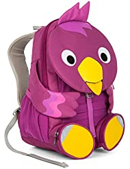 Affenzahn Kinderrucksack mit Brustgurt für 3-5 jährige Jungen und Mädchen im Kindergarten oder Kita der große Freund Viola Vogel - lila, pink