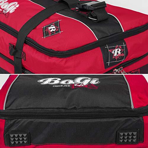 BoGi Bag Unisex– Erwachsene Reistrolley 110 Liter-Rot/Schwarz Reisetasche 85 cm - 7
