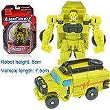 1pcs : Kitoz Transformation Series Mini Robot Car Action Figure Model Deformation Plastic Toy Gift For Boy Child