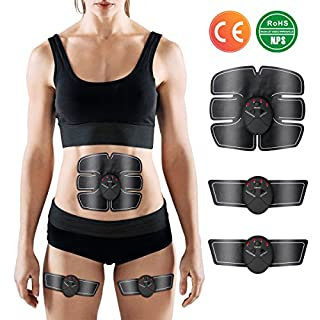 Charminer EMS Abs Trainer, Abdominal Toning Belts Muscle Toner Gym Workout And Home Fitness Apparatus For Men Women