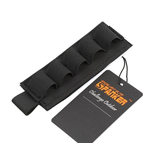 EXCELLENT ELITE SPANKER Taktisch 12 Nummer Shotgun Bullet Shell Halter für Gewehre Nylon(Schwarz) -