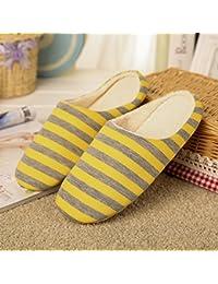 BaconiXfF - Zapatillas de estar por casa para mujer amarillo amarillo 38/39