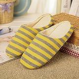 BaconiXfF - Zapatillas de estar por casa para mujer amarillo amarillo 40/41