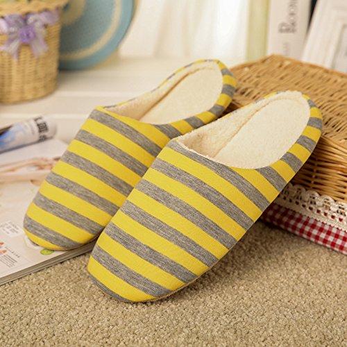 BaconiXfF - Zapatillas de estar por casa para mujer amarillo amarillo 44/45