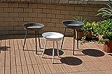 3tlg. Beistelltisch Set Gartentisch Garten Terrasse Balkon Tisch Möbel 3 farbig