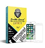 #9: Gorilla guard™s HD+ white bezled 5D tempered glass screen protector for Apple iPhone 7 4.7inch (PRO++ series) 10H hardness, oelophobic, UV protect, 2.5D rounded edges, neo coated, free instalation kit, BEST DEAL!
