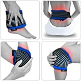 Gelpacksdirect Reusable Hot/Cold Gel Pack - With Compress Wrap for Fast Pain Relief - All Body Parts