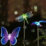#3: Hardoll Solar Garden Lights,Hummingbird,Butterfly & Dragonfly Solar Garden Stake Light,Solar Powered Lights Outdoor Multi-Color Changing LED Light,Solar Security Lights for Garden,Home,Patio,Backyard
