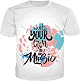 100ANB - (1 - 8A) Make Your OWN kind of MUSIC - MEMES HUMOR QUOTES GIFT BIRTHDAY - GRAPHIC PRINTED DRIFIT DRYFIT MICRO POLYESTER ROUND NECK T-SHIRT TE