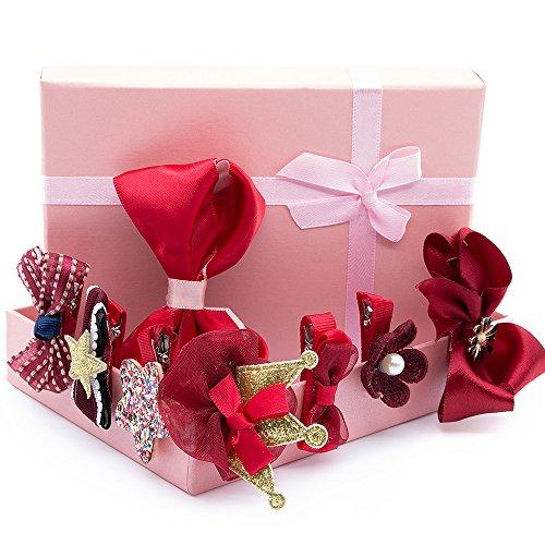 SPECOOL 10 STÜCKE Haarschmuck Set Mädchen Bowknot Blume Haarspange, Haarschmuck für Baby Mädchen Kinder Party Geschenke