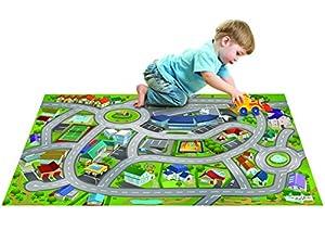 House Of Kids 11746-E2 City Airport - Alfombrilla de Juegos (100 x 150 cm)