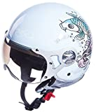 Ed Hardy Koi Fish Helm L blau