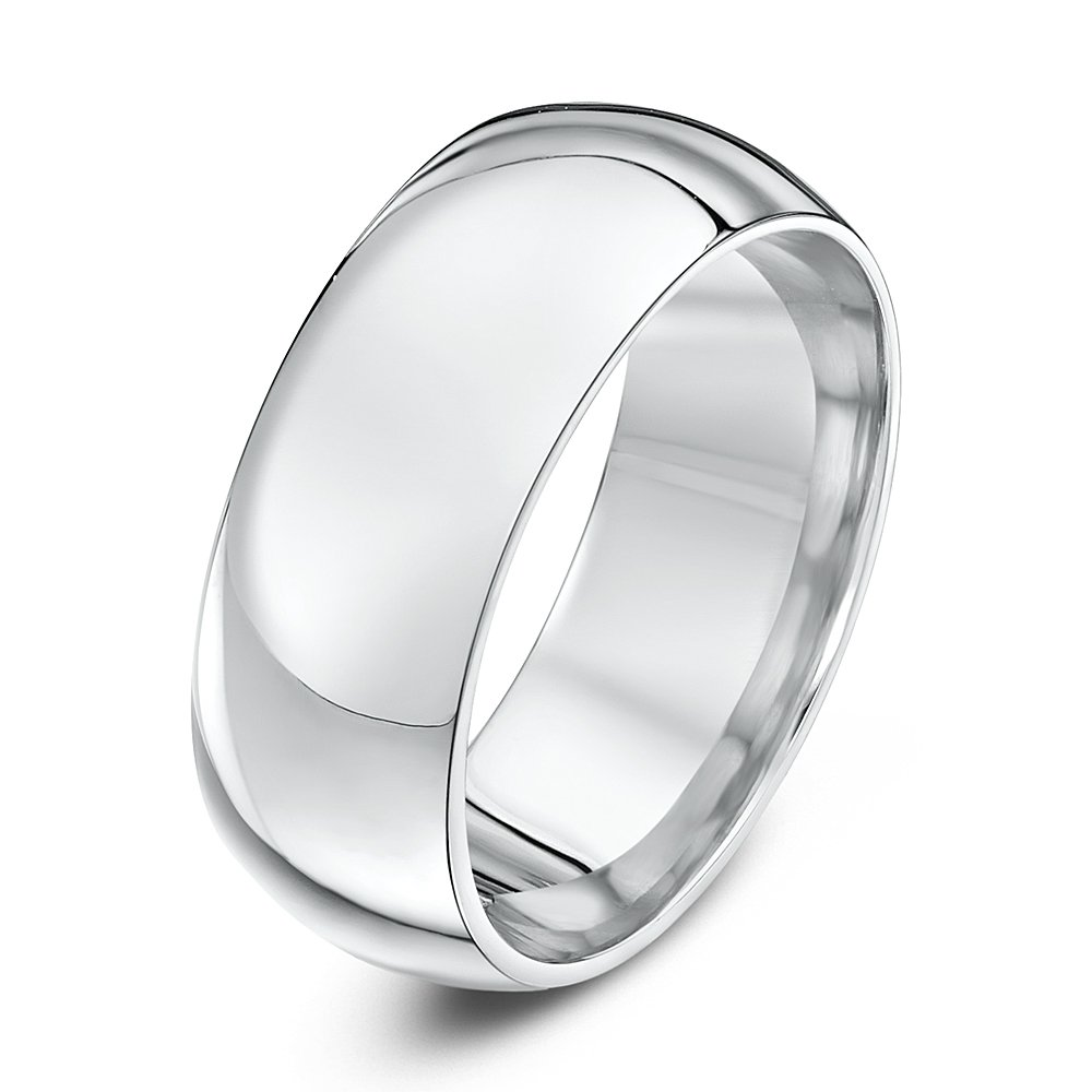 theia palladium 950 super heavy court shape wedding ring amazoncouk jewellery - Palladium Wedding Rings